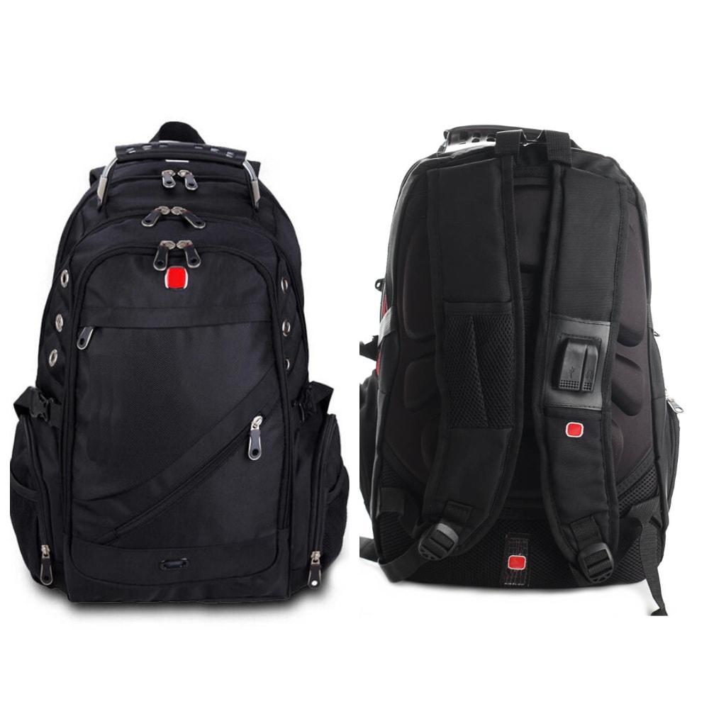 Рюкзак швейцарский с USB и аудио выходамиСумки и рюкзаки<br>Ищете комфортный рюкзак как для повседневного использования, так и для поездок за город? Обязательно обратите внимание на швейцарский рюкзак с USB и AUX выходами.<br>
