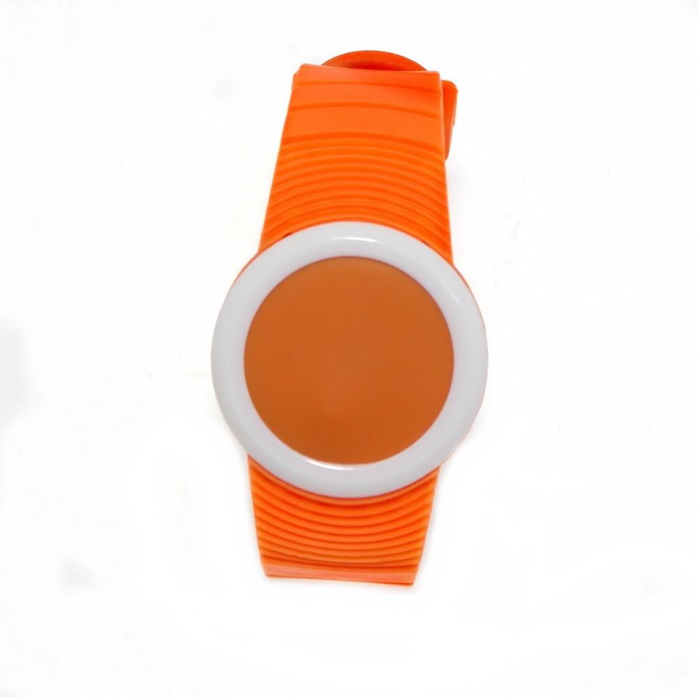 Ультратонкие силиконовые LED часы Nexer G1218, Оранжевый