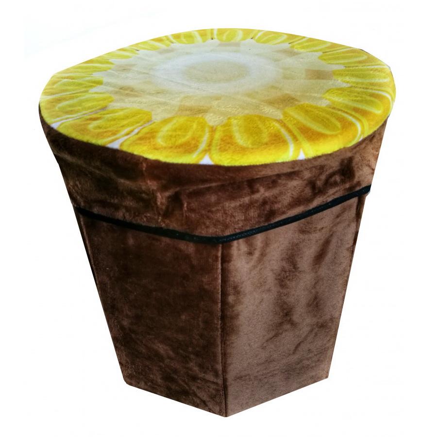 Складной пуфик-контейнер 2 в 1, 31х30 см, кукуруза