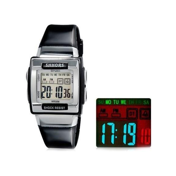 Водонепроницаемые LED часы SHORS SH-358Спортивные LED часы<br>Если вы увлекаетесь экстремальными видами спорта на воде, то это – не повод отказывать себе в стильных и полезных аксессуарах! Водонепроницаемые LED часы SHORS SH-358 станут настоящей находкой как для спортсменов, так и для людей, которые выбирают уникальное сочетание стильного внешнего вида, удобства и надежности!<br>