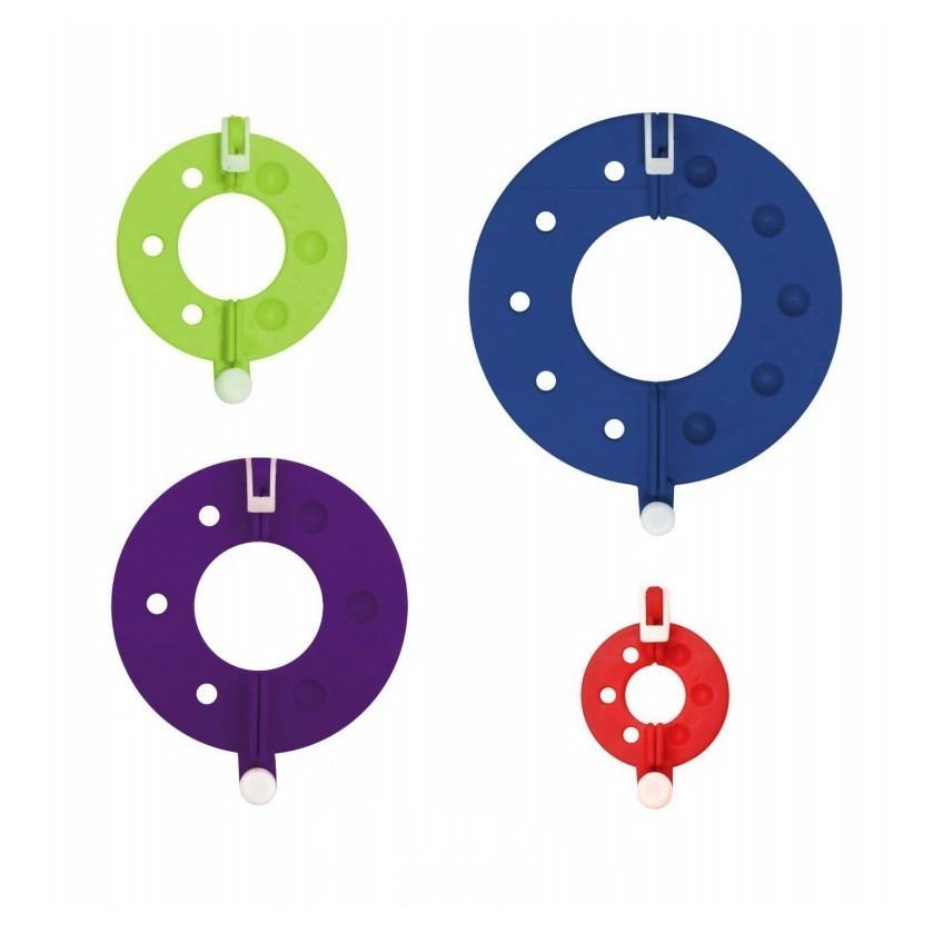 Купить Набор приспособлений для изготовления помпонов, 4шт, цвет микс, Развивающие игрушки