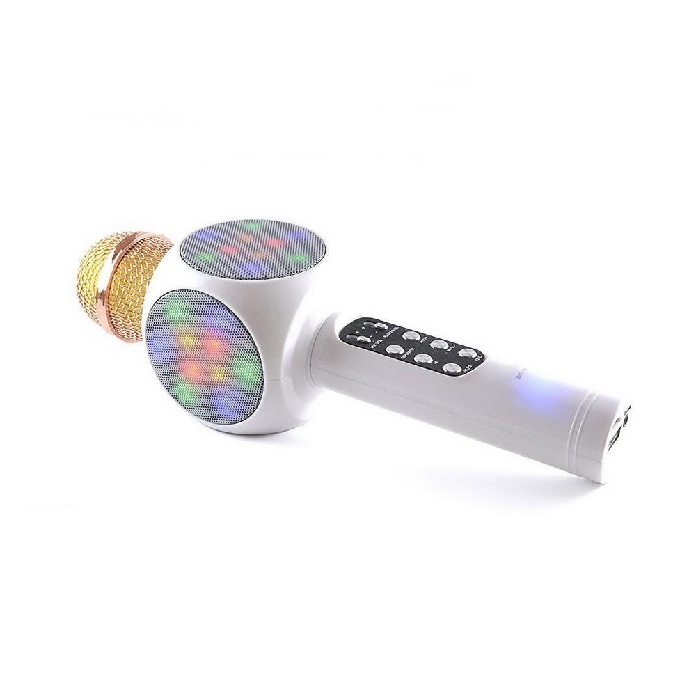 Колонка с функцией микрофона караоке WSTER WS-1816 белый от MELEON
