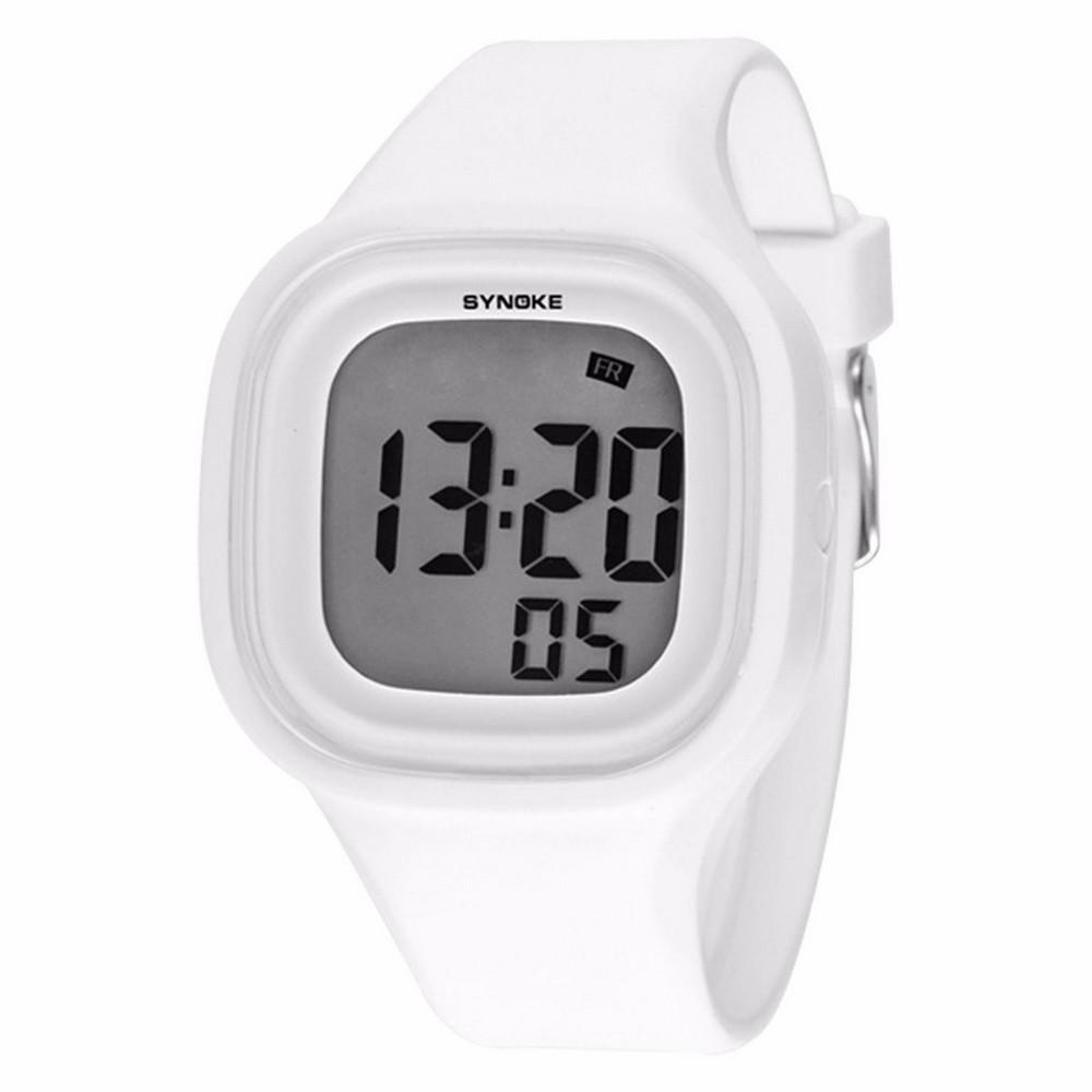 Силиконовые LED часы SHORS SH-689, Белый фото
