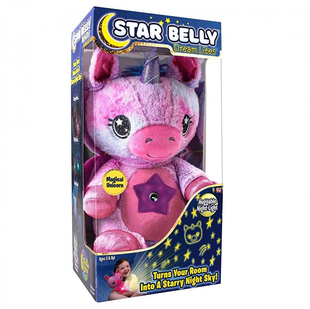 Мягкая игрушка ночник-проектор Star Belly Dream Lites, мультицвет