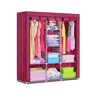 Мобильный тканевый шкаф Storage Wardrobe, розовый