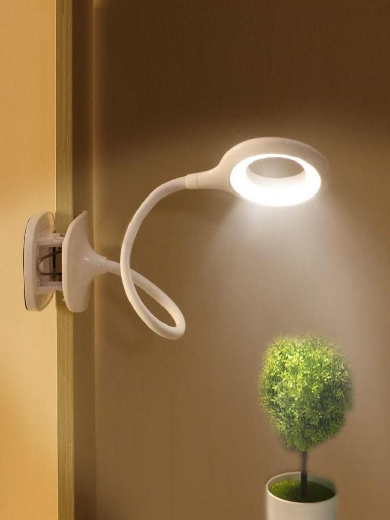 Гибкая кольцевая лампа на прищепке с тремя типами свечения