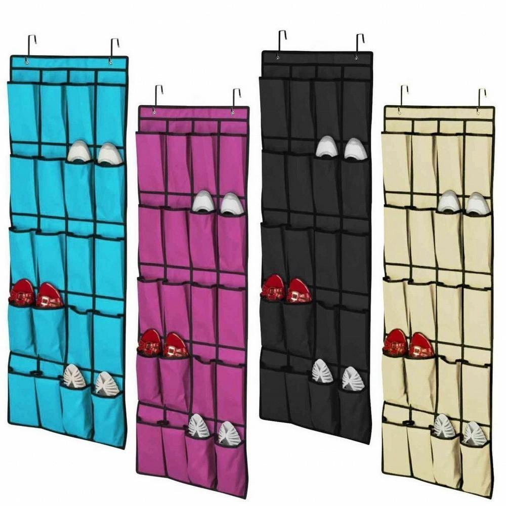 Подвесной органайзер для обуви Shoe Organaizer, 20 кармашков, цвет миксДля хранения обуви<br>В вашей прихожей постоянно раскидана обувь? Чтобы навести порядок, нет необходимости приобретать дорогостоящий громоздкий шкаф или заставлять близких прятать любимые пары туфлей, ботинок и сапог. Вам поможет инновационный подвесной органайзер для обуви Shoe Organaizer с 20 кармашками!<br>
