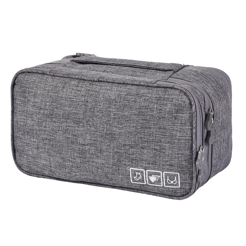 Дорожный органайзер для нижнего белья Travel Underwear Pouch, серый