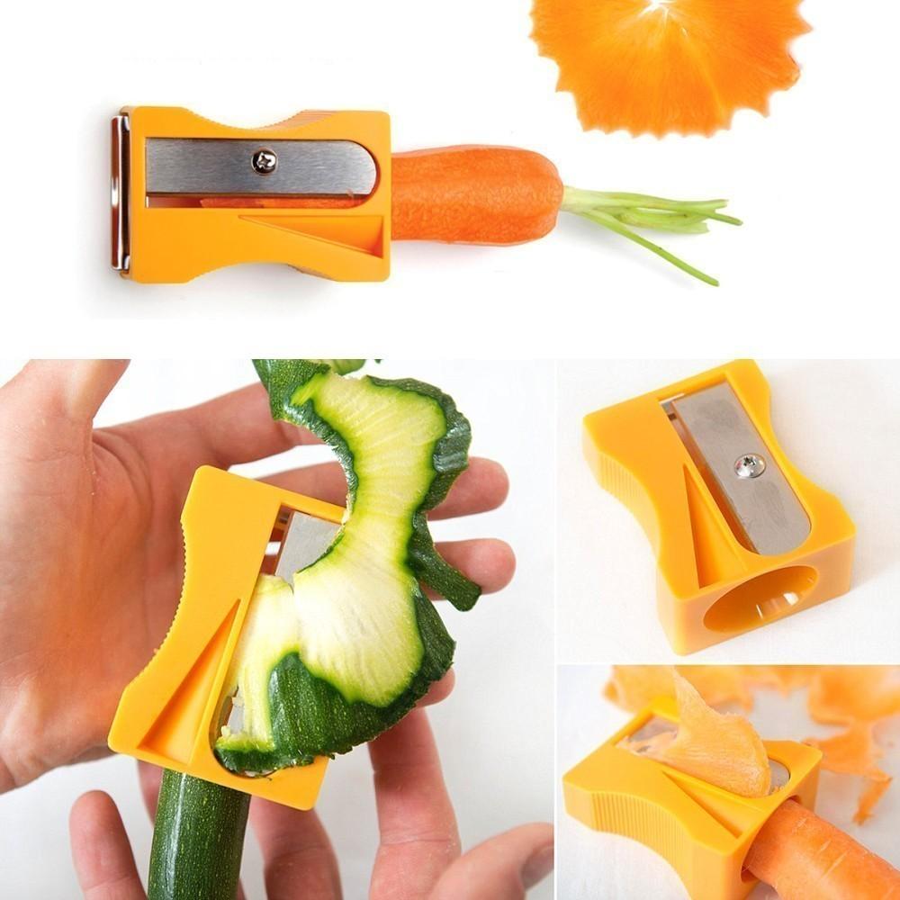 Точилка-овощечистка для овощей и фруктов, цвет микс