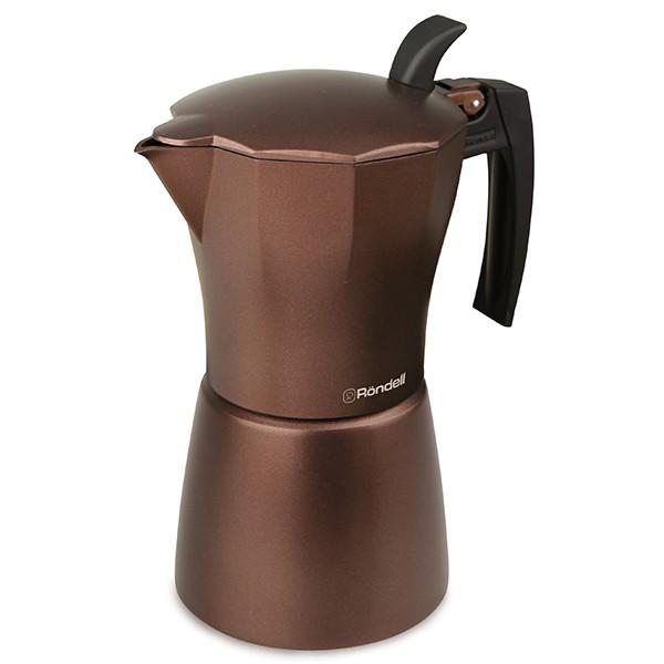 Гейзерная кофеварка 9 чашек Kortado Rondell RDA-399Кофеварки и кофемашины<br>Гейзерная кофеварка RDS-399 Kortado, рассчитанная на 9 чашек готового напитка, благодаря теплосберегающим свойствам материала изготовления, литого алюминия, надолго сохраняет комфортную температуру кофе или другого любимого вами напитка.<br>