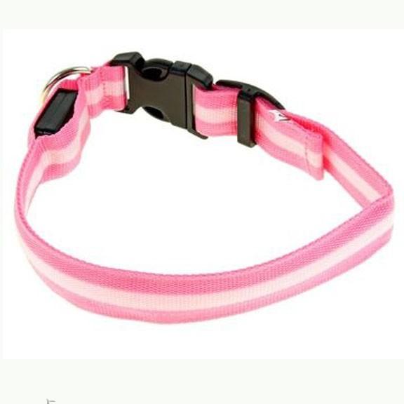 Светящийся ошейник, 40-45 см, Розовый фото