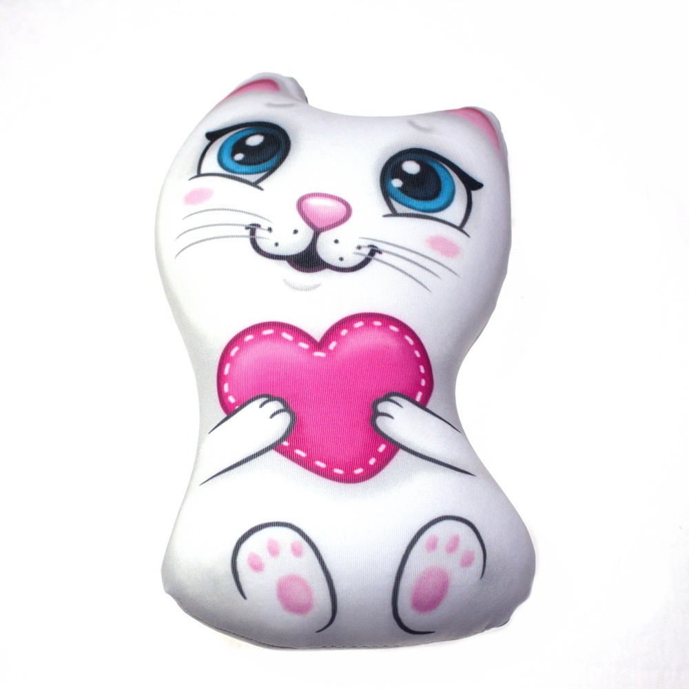 Купить Мягкая игрушка-антистресс - Кошечка с сердечком, Игрушки Антистресс