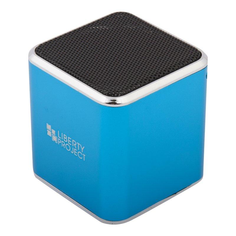 Колонка портативная «LP» M1 синий (3,5+USB+microSD+FM радио) (коробка)