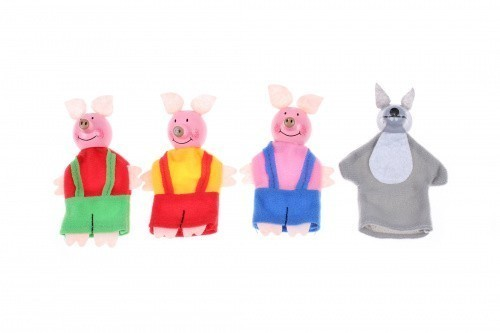 Купить Детский пальчиковый кукольный театр - Три поросёнка и волк, Развивающие игрушки
