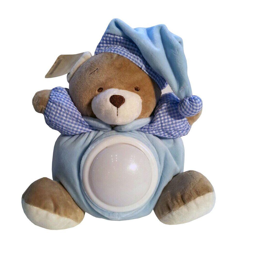 Мягкая игрушка музыкальный Мишка-ночник, голубой