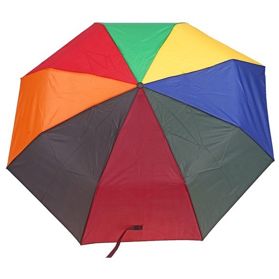 Зонт складной механический - РадугаЗонты<br>Один из самых необходимых предметов во время дождливой погоды для нас является зонт. В последние годы зонт стал не только средством для того, чтобы укрыться от дождя, но и стильным аксессуаром подчеркивающим индивидуальность владельца. зонт складной механический однотонный станет отличным подарком, который выделит его обладателя на улицах огромного мегаполиса. И непогода станет праздником…!<br>