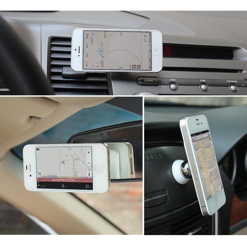 """Магнитный держатель телефона - 360 градусов, черныйДержатели для смартфонов<br>Магнитный держатель ломает стереотипы о неудобных громоздких конструкциях, которые были раньше. Крохотный шарик – всего 3 см – с мощнейшим магнитным излучением удерживает даже металлический 10"""" планшет и вращается на 360 градусов! Максимальный комфорт за рулем!<br>"""