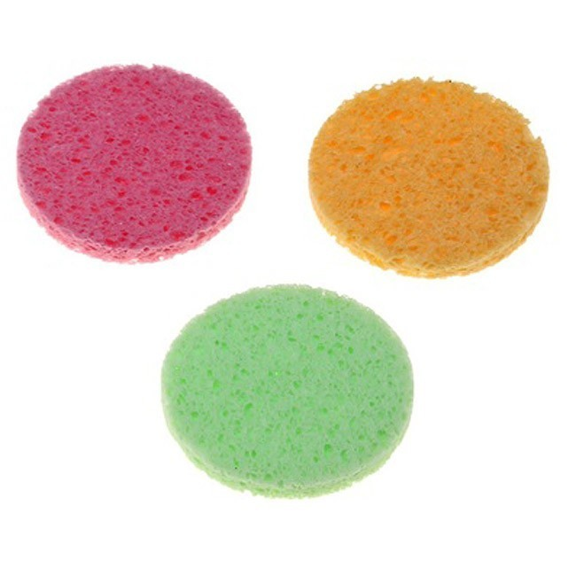 Спонж для умывания Цветной кругДля нанесения макияжа<br>Спонжик удаляет отмершие клетки, помогает справиться с шелушением кожи. Это особенно актуально для жирной кожи, склонной к образованию комедонов и воспалений.<br>