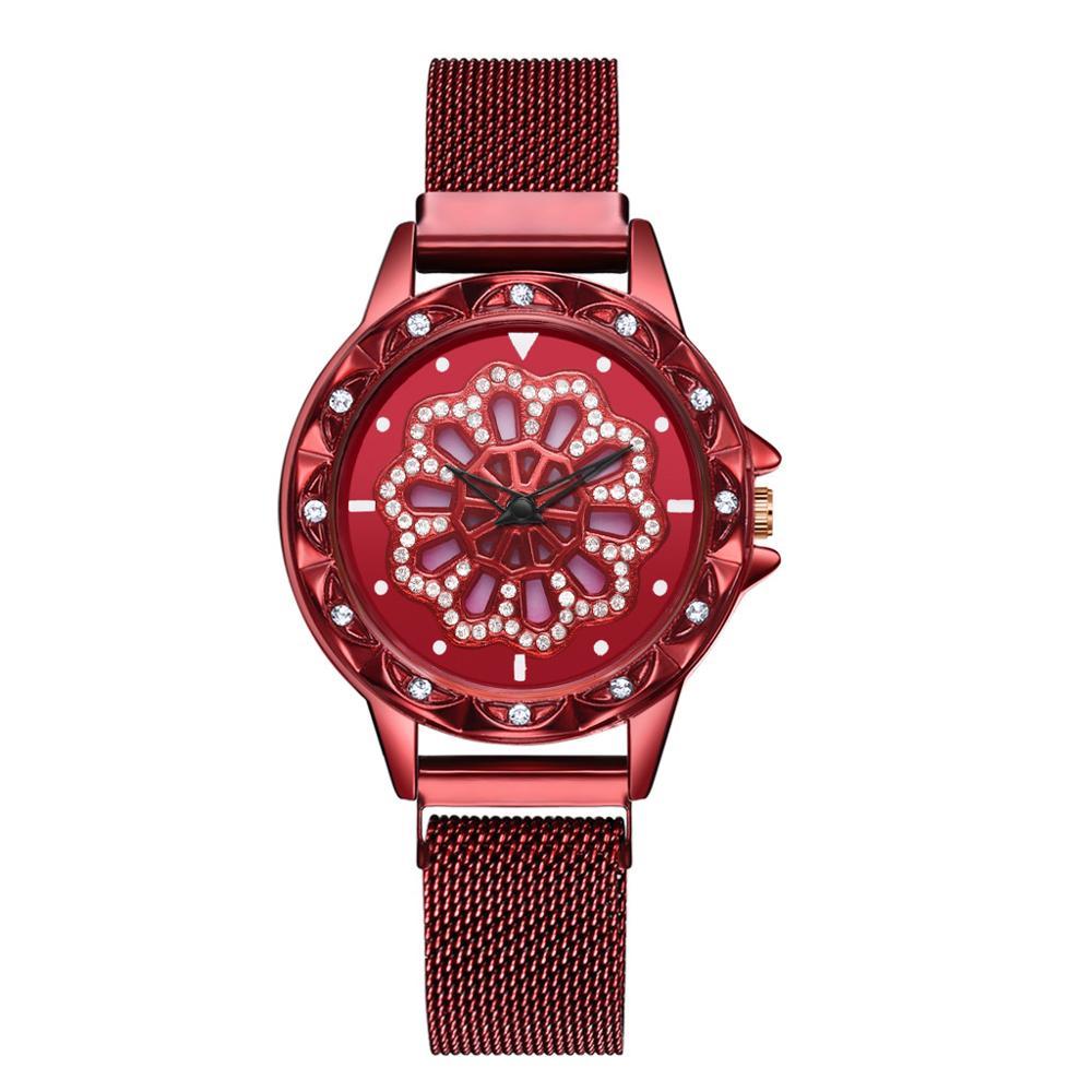 Наручные кварцевые женские часы Gedi, красный