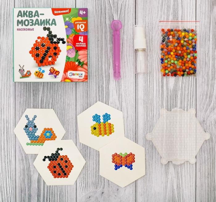 Купить Аквамозаика для детей - Насекомые, Развивающие игрушки