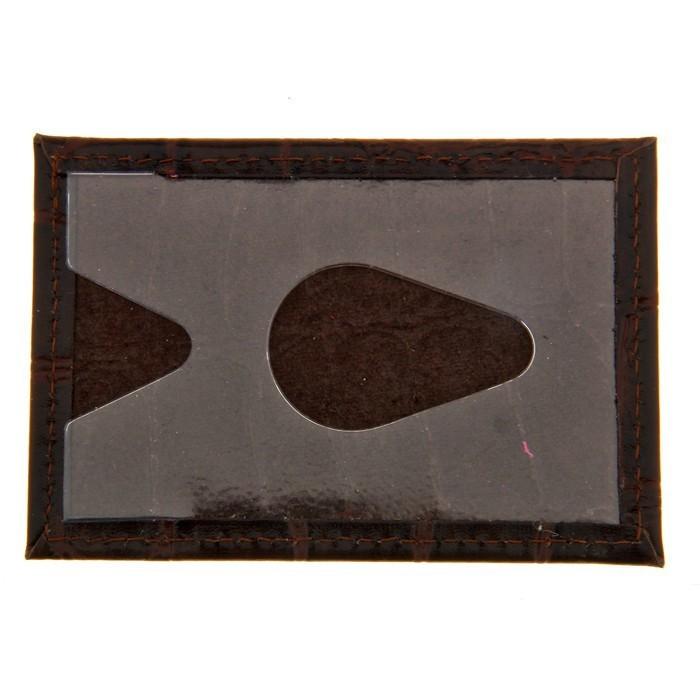 Футляр для банковской карты, кожа - коричневый скат от MELEON
