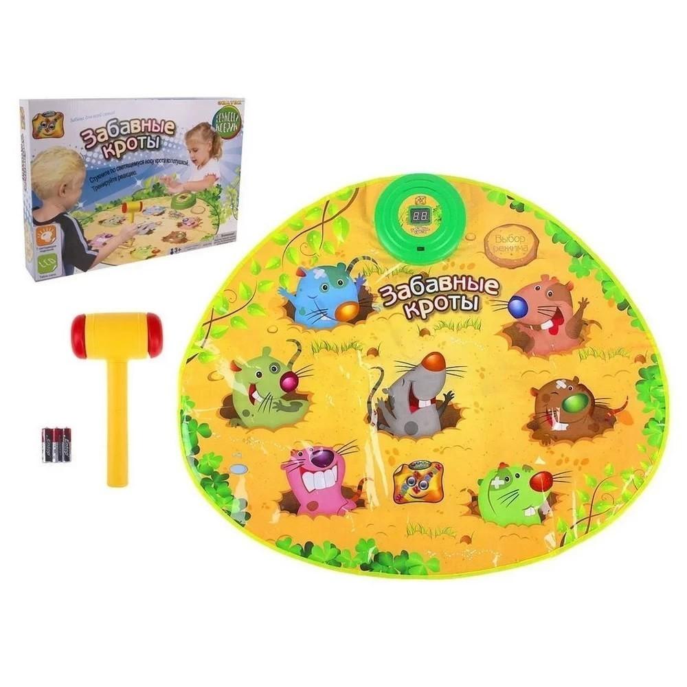 Игровой музыкальный коврик - Веселые кроты, Hit the Moles PlaymatПодвижные игры<br>Какую игру ваш малыш просто обожает в детских развлекательных комнатах? Конечно, речь идет о кротах, по которым нужно бить молоточком, чтобы отправить их в нору. Хотите подарить море веселья своему чаду, но не переплачивать за любимую игру? Вам поможет игровой музыкальный коврик Веселые кроты, Hit the Moles Playmat. Теперь развлечение будет доступно в любое время дома!<br>
