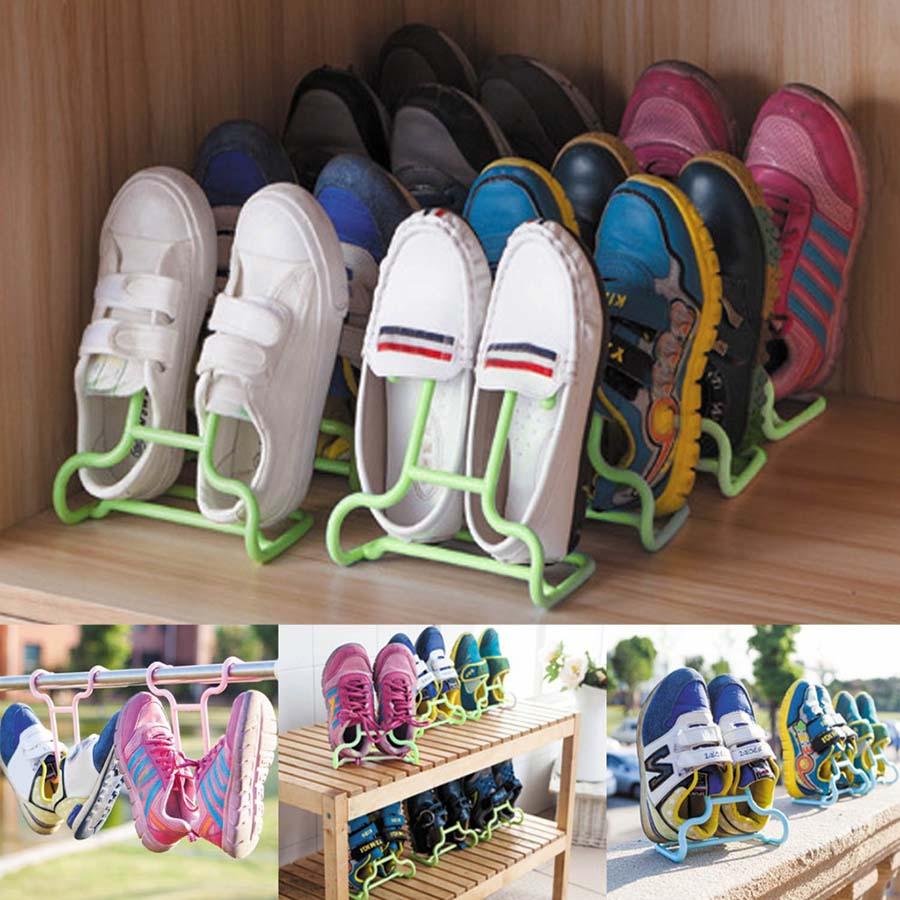 Подставка-сушилка для обуви 2 шт, цвет миксСушилки для обуви<br>Как быстро и качественно высушить обувь всей семьи? Забудьте о том, как вам приходилось вставлять внутрь ботинок кучу газет или постоянно вытаскивать электрическую сушилку из одной пары обуви, чтобы вставить ее в другую.<br>