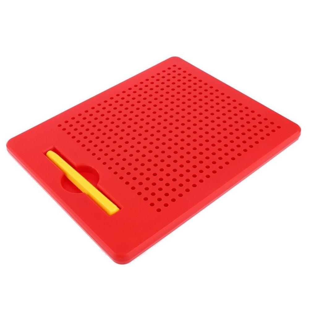 Планшет обучающий — Магнитное рисование, 380 отверстий, красный