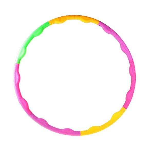 Обруч разборный 90 см, цветной пластик