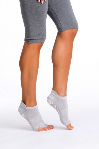 Носки противоскользящие для занятий йогой с открытыми пальцами